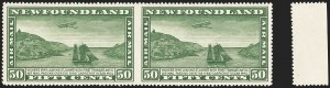 Sale Number 1130, Lot Number 1175, Canadian Provinces - NewfoundlandNEWFOUNDLAND, 1931, 50c Green Air Post, Horizontal Pair, Imperforate Between (C7a), NEWFOUNDLAND, 1931, 50c Green Air Post, Horizontal Pair, Imperforate Between (C7a)