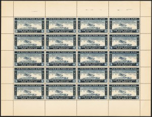 Sale Number 1130, Lot Number 1176, Canadian Provinces - NewfoundlandNEWFOUNDLAND, 1932, Unissued $1.00 Blue Air Post, NEWFOUNDLAND, 1932, Unissued $1.00 Blue Air Post