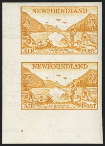 Sale Number 1130, Lot Number 1177, Canadian Provinces - NewfoundlandNEWFOUNDLAND, 1933, 5c-75c Air Post, Imperforate (C13a-C17a), NEWFOUNDLAND, 1933, 5c-75c Air Post, Imperforate (C13a-C17a)