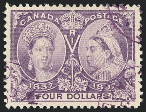 Sale Number 1130, Lot Number 1256, Canada - Jubilee IssueCANADA, 1897, $4.00 Jubilee (64), CANADA, 1897, $4.00 Jubilee (64)