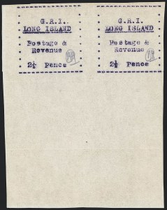 Sale Number 1130, Lot Number 1519, Long IslandLONG ISLAND, 1916, 2-1/2p Mauve on Thin Wove Paper (SG 34), LONG ISLAND, 1916, 2-1/2p Mauve on Thin Wove Paper (SG 34)