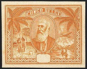Sale Number 1130, Lot Number 1662, Belgian Congo - Dr. Maulding Collection - 1909-15 Pictorials and Later IssuesBELGIAN CONGO, 1930s Unvalued Leopold II Imperforate Essay, BELGIAN CONGO, 1930s Unvalued Leopold II Imperforate Essay