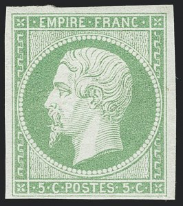 Sale Number 1130, Lot Number 1783, French Colonies thru German East AfricaFRENCH COLONIES, 1872, 5c Yellow Green on Greenish (8; Yvert 8), FRENCH COLONIES, 1872, 5c Yellow Green on Greenish (8; Yvert 8)