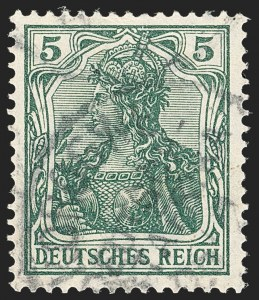 Sale Number 1130, Lot Number 1793, French Colonies thru German East AfricaGERMAN EAST AFRICA, 1915, 5pf, Konigsberg (Michel IIb), GERMAN EAST AFRICA, 1915, 5pf, Konigsberg (Michel IIb)