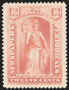 Sale Number 1131, Lot Number 2591, 1894 Bureau of Engraving & Printing Issue (Scott PR90-PR101)12c Pink, 1894 Issue (PR95), 12c Pink, 1894 Issue (PR95)