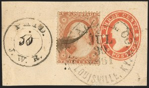 Sale Number 1132, Lot Number 3014, U.S. Postage Used in Confederacy and Thru-the-LinesAdams Express, Adams Express