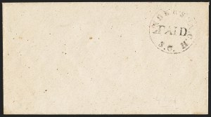 Sale Number 1132, Lot Number 3033, Postmasters Provisionals: Abingdon Va. thru Barnwell C.H. S.C.Anderson Court House S.C., (2c) Denomination Omitted, Black entire (4XU3), Anderson Court House S.C., (2c) Denomination Omitted, Black entire (4XU3)