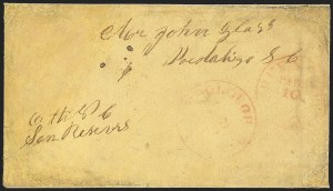 Sale Number 1132, Lot Number 3101, Postmasters Provisionals: Goliad Tex. thru Jacksonville Ala.Greensboro N.C., 10c Red entire (32XU1), Greensboro N.C., 10c Red entire (32XU1)