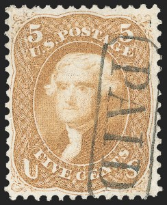 Sale Number 1133, Lot Number 101, 1861-66 Issue (Scott 56-78)5c Buff (67), 5c Buff (67)