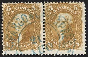 Sale Number 1133, Lot Number 102, 1861-66 Issue (Scott 56-78)5c Buff (67), 5c Buff (67)