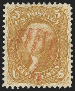 Sale Number 1133, Lot Number 103, 1861-66 Issue (Scott 56-78)5c Brown Yellow (67a), 5c Brown Yellow (67a)