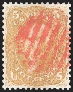 Sale Number 1133, Lot Number 104, 1861-66 Issue (Scott 56-78)5c Brown Yellow (67a), 5c Brown Yellow (67a)
