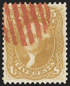 Sale Number 1133, Lot Number 105, 1861-66 Issue (Scott 56-78)5c Brown Yellow (67a), 5c Brown Yellow (67a)