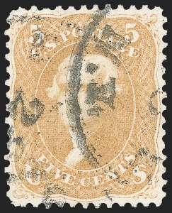 Sale Number 1133, Lot Number 106, 1861-66 Issue (Scott 56-78)5c Brown Yellow (67a), 5c Brown Yellow (67a)