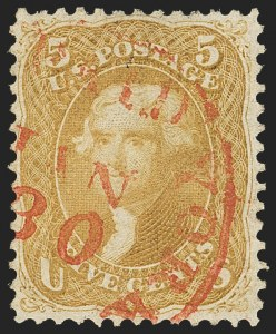 Sale Number 1133, Lot Number 107, 1861-66 Issue (Scott 56-78)5c Brown Yellow (67a), 5c Brown Yellow (67a)