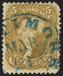 Sale Number 1133, Lot Number 109, 1861-66 Issue (Scott 56-78)5c Olive Yellow (67b), 5c Olive Yellow (67b)