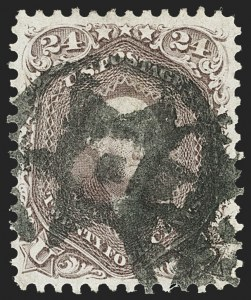 Sale Number 1133, Lot Number 110, 1861-66 Issue (Scott 56-78)24c Red Lilac (70), 24c Red Lilac (70)