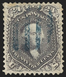 Sale Number 1133, Lot Number 111, 1861-66 Issue (Scott 56-78)24c Violet, Thin Paper (70c), 24c Violet, Thin Paper (70c)
