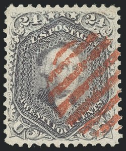 Sale Number 1133, Lot Number 112, 1861-66 Issue (Scott 56-78)24c Pale Gray Violet, Thin Paper (70d), 24c Pale Gray Violet, Thin Paper (70d)