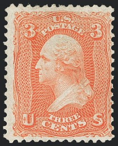 Sale Number 1133, Lot Number 113, 1861-66 Issue (Scott 56-78)3c Scarlet (74), 3c Scarlet (74)