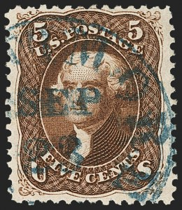 Sale Number 1133, Lot Number 116, 1861-66 Issue (Scott 56-78)5c Red Brown (75), 5c Red Brown (75)