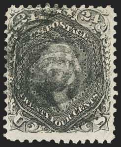 Sale Number 1133, Lot Number 126, 1861-66 Issue (Scott 56-78)24c Blackish Violet (78c), 24c Blackish Violet (78c)