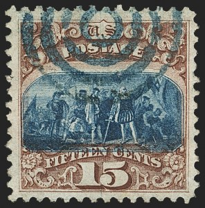 Sale Number 1133, Lot Number 220, 15c 1869 Pictorial Issue, off-Cover (Scott 118-119b)15c Brown & Blue, Ty. I (118), 15c Brown & Blue, Ty. I (118)