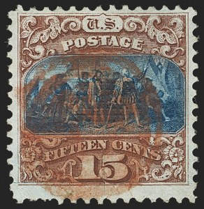Sale Number 1133, Lot Number 221, 15c 1869 Pictorial Issue, off-Cover (Scott 118-119b)15c Brown & Blue, Ty. I (118), 15c Brown & Blue, Ty. I (118)