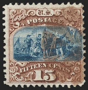 Sale Number 1133, Lot Number 222, 15c 1869 Pictorial Issue, off-Cover (Scott 118-119b)15c Brown & Blue, Ty. I (118), 15c Brown & Blue, Ty. I (118)