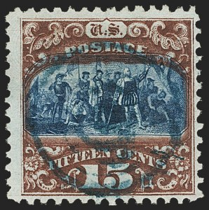 Sale Number 1133, Lot Number 234, 15c 1869 Pictorial Issue, off-Cover (Scott 118-119b)15c Brown & Blue, Ty. II (119), 15c Brown & Blue, Ty. II (119)