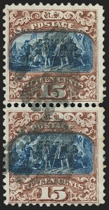 Sale Number 1133, Lot Number 236, 15c 1869 Pictorial Issue, off-Cover (Scott 118-119b)15c Brown & Blue, Ty. II (119), 15c Brown & Blue, Ty. II (119)