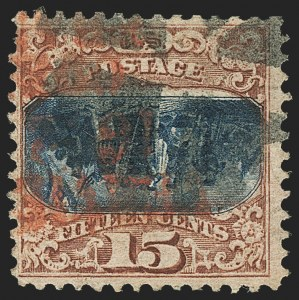 Sale Number 1133, Lot Number 238, 15c 1869 Pictorial Issue, off-Cover (Scott 118-119b)15c Brown & Blue, Ty. II, Center Inverted (119b), 15c Brown & Blue, Ty. II, Center Inverted (119b)