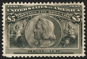 Sale Number 1133, Lot Number 385, 1893 Columbian Issue (Scott 230-245)$5.00 Columbian (245), $5.00 Columbian (245)
