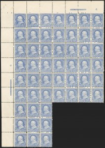 Sale Number 1133, Lot Number 388, 1894-98 Bureau Issues (Scott 246-284)1c Ultramarine (246), 1c Ultramarine (246)