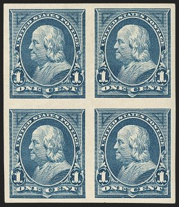 Sale Number 1133, Lot Number 391, 1894-98 Bureau Issues (Scott 246-284)1c Blue, Imperforate (264a), 1c Blue, Imperforate (264a)