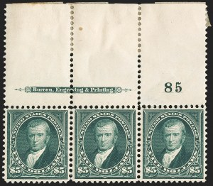 Sale Number 1133, Lot Number 399, 1894-98 Bureau Issues (Scott 246-284)$5.00 Dark Green (278), $5.00 Dark Green (278)