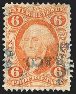 Sale Number 1133, Lot Number 547, First Issue Revenues6c Proprietary, Perforated (R31c), 6c Proprietary, Perforated (R31c)