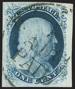 Sale Number 1133, Lot Number 61, 1851-56 Issue (Scott 5-17)1c Blue, Ty. III (8), 1c Blue, Ty. III (8)