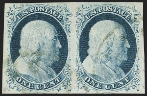 Sale Number 1133, Lot Number 64, 1851-56 Issue (Scott 5-17)1c Blue, Ty. IV (9), 1c Blue, Ty. IV (9)