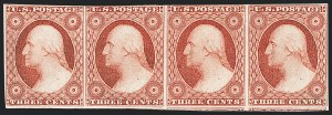 Sale Number 1133, Lot Number 70, 1851-56 Issue (Scott 5-17)3c Rose Red (11A), 3c Rose Red (11A)