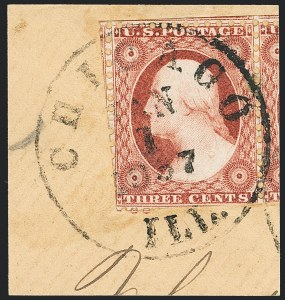 Sale Number 1133, Lot Number 71, 1851-56 Issue (Scott 5-17)3c Claret, Ty. II, Chicago Perf 12-1/2 (11A var), 3c Claret, Ty. II, Chicago Perf 12-1/2 (11A var)