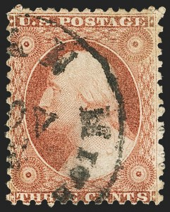 Sale Number 1133, Lot Number 72, 1851-56 Issue (Scott 5-17)3c Dull Red, Ty. I, Chicago Perf 12-1/2 (11 var), 3c Dull Red, Ty. I, Chicago Perf 12-1/2 (11 var)