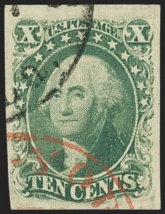 Sale Number 1133, Lot Number 79, 1851-56 Issue (Scott 5-17)10c Green, Ty. IV (16), 10c Green, Ty. IV (16)