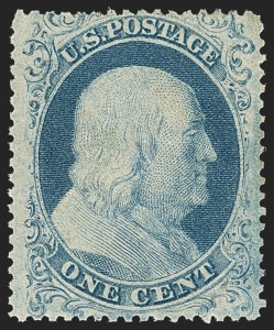 Sale Number 1133, Lot Number 81, 1857-60 Issue (Scott 18-39)1c Blue, Ty. I (18), 1c Blue, Ty. I (18)