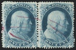 Sale Number 1133, Lot Number 82, 1857-60 Issue (Scott 18-39)1c Blue, Ty. Ia (19), 1c Blue, Ty. Ia (19)