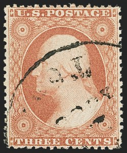 Sale Number 1133, Lot Number 83, 1857-60 Issue (Scott 18-39)3c Rose, Ty. I (25), 3c Rose, Ty. I (25)