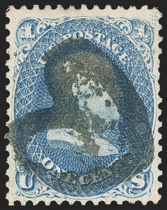 Sale Number 1133, Lot Number 92, 1861-66 Issue (Scott 56-78)1c Blue (63), 1c Blue (63)