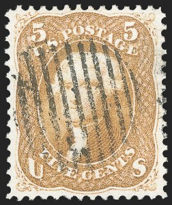 Sale Number 1133, Lot Number 97, 1861-66 Issue (Scott 56-78)5c Buff (67), 5c Buff (67)