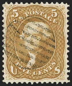 Sale Number 1133, Lot Number 99, 1861-66 Issue (Scott 56-78)5c Buff (67), 5c Buff (67)