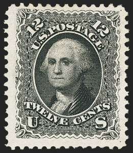 Sale Number 1134, Lot Number 108, 1875 Re-Issue of 1861-66 Issue (Scott 102-111)12c Black, Re-Issue (107), 12c Black, Re-Issue (107)